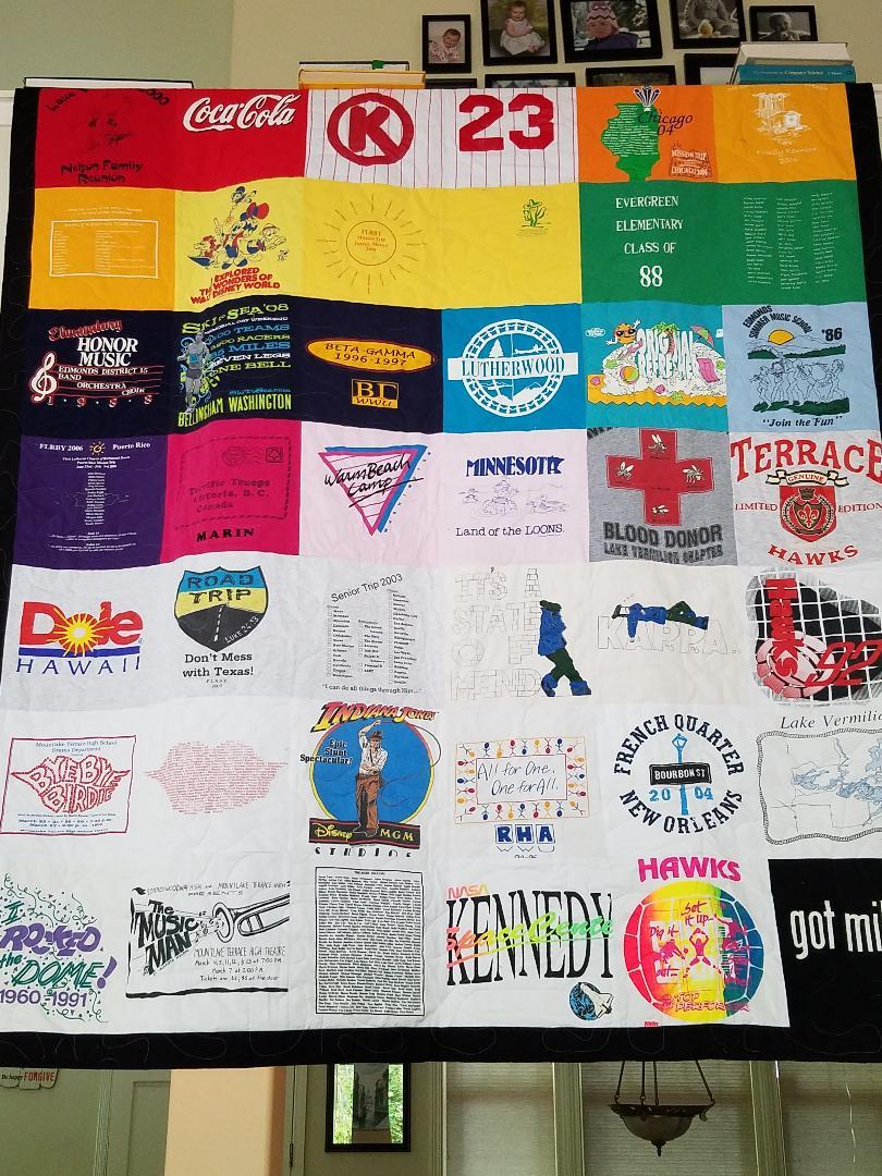 Tshirt quilt 1
