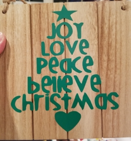 Joy Love Peace Tree